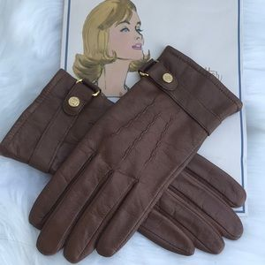 RALPH LAUREN Leather gloved tan
